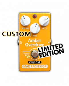 Amber Overdrive with Midas Touch mod, custom series, limited edition Mad Professor pedal.