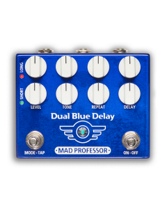 Dual-Blue-Delay-Factory-Pedal-Front-Mad-Professor-Amplification