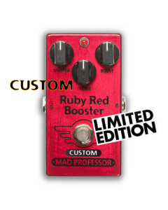 Nashville Hot Mids Solo Boost modded Ruby Red Booster, Custom Series, Limited Edition Mad Professor pedal.