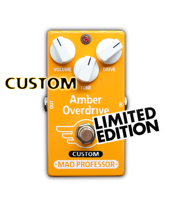 Amber Overdrive With Midas Touch Mod Is A Custom Series Limited Edition Mad Professor Pedal